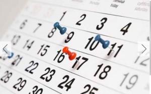 Como vai preencher o seu calendário?
